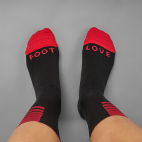 GripGrab Racing Stripes Cycling Socks Black/Red